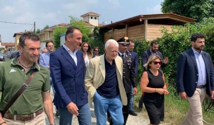 SAN GIUSTO CANAVESE - Il ricordo di Paolo Borsellino e delle vittime della mafia davanti alla villa confiscata al boss Assisi