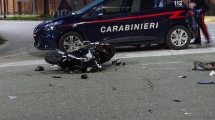 LOMBARDORE - Auto contro moto, ferito un sedicenne di Leini. Sulla vettura una donna positiva allalcoltest - FOTO