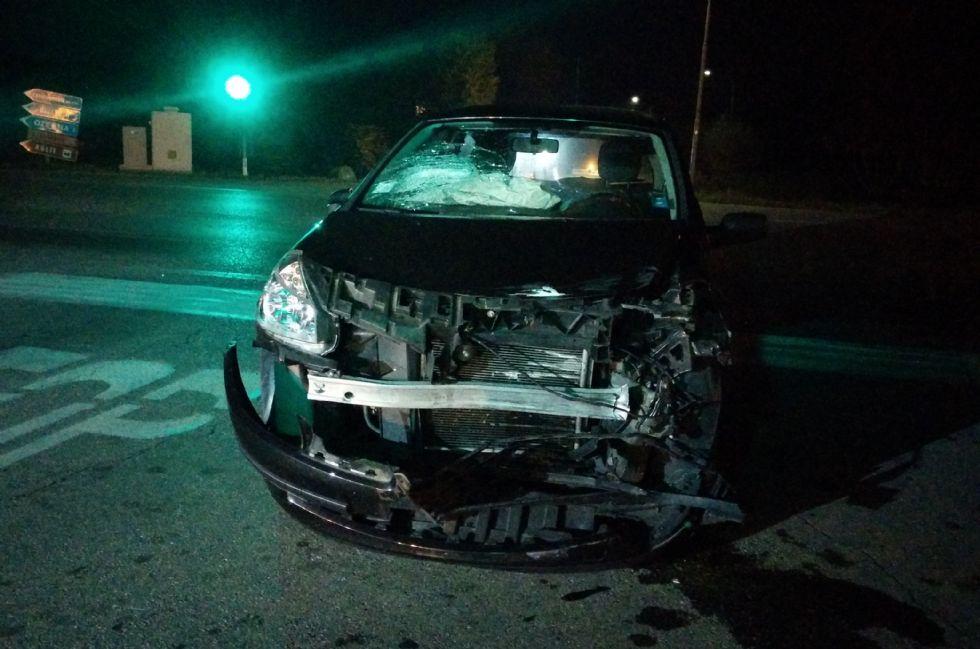 SAN GIORGIO - Brutto incidente stradale al semaforo - FOTO