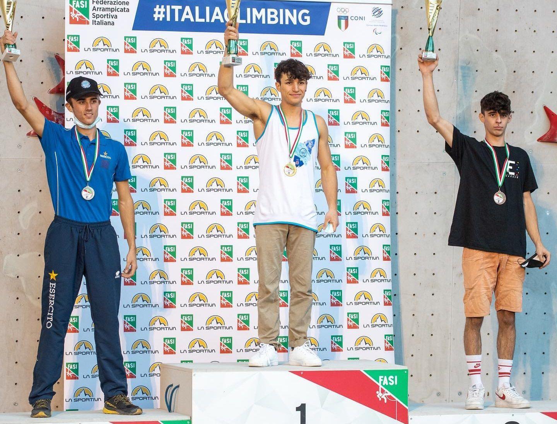 CUORGNE' - Arrampicata sportiva, Luca Malosti è medaglia di bronzo in Coppa Italia