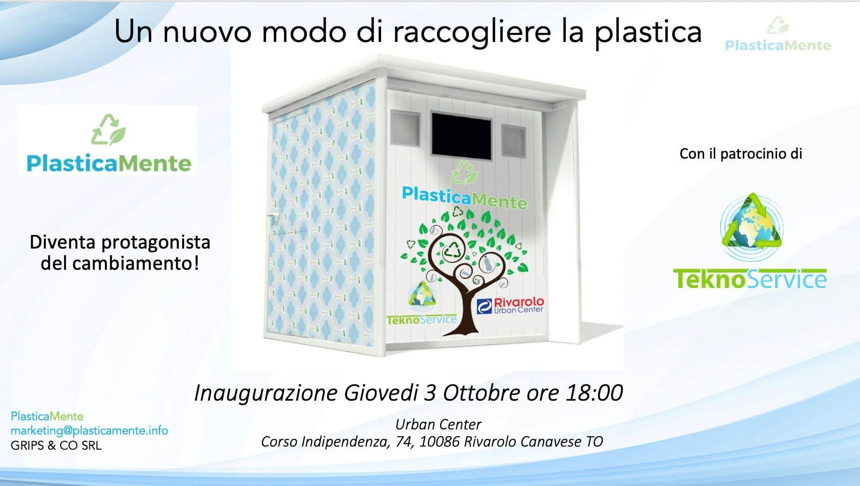RIVAROLO - Il primo eco-compattatore della plastica all'Urban Center