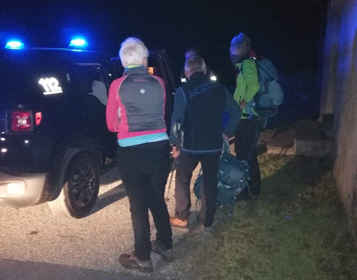 TRAVERSELLA - Il soccorso alpino ha salvato nella notte i due escursionisti dispersi in quota - FOTO