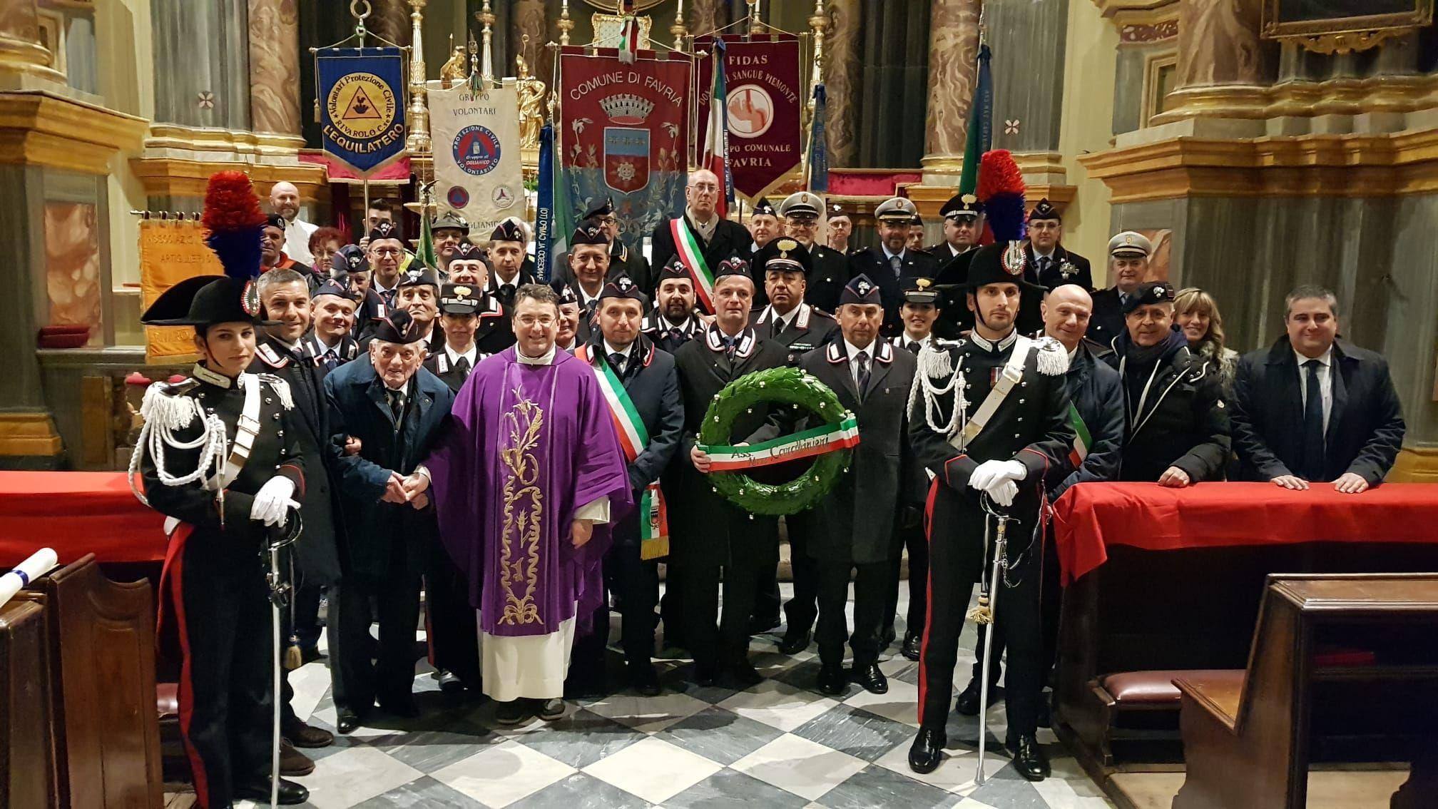 FAVRIA - Celebrata la Virgo Fidelis dei carabinieri con un omaggio al maresciallo Aurelio Croce - VIDEO