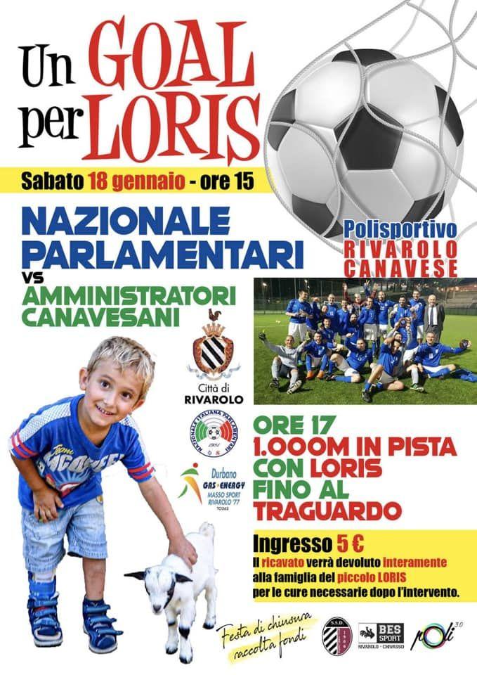 RIVAROLO - Tutti per Loris: la Nazionale Parlamentari di calcio in campo contro gli amministratori del Canavese