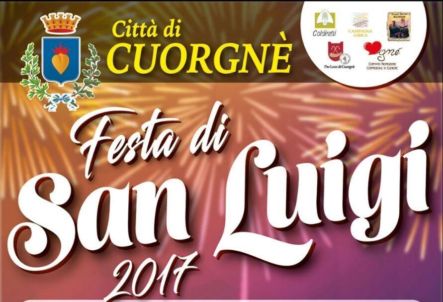 CUORGNE' - Raffica di eventi per l'attesa Festa di San Luigi 2017 - TUTTO IL PROGRAMMA