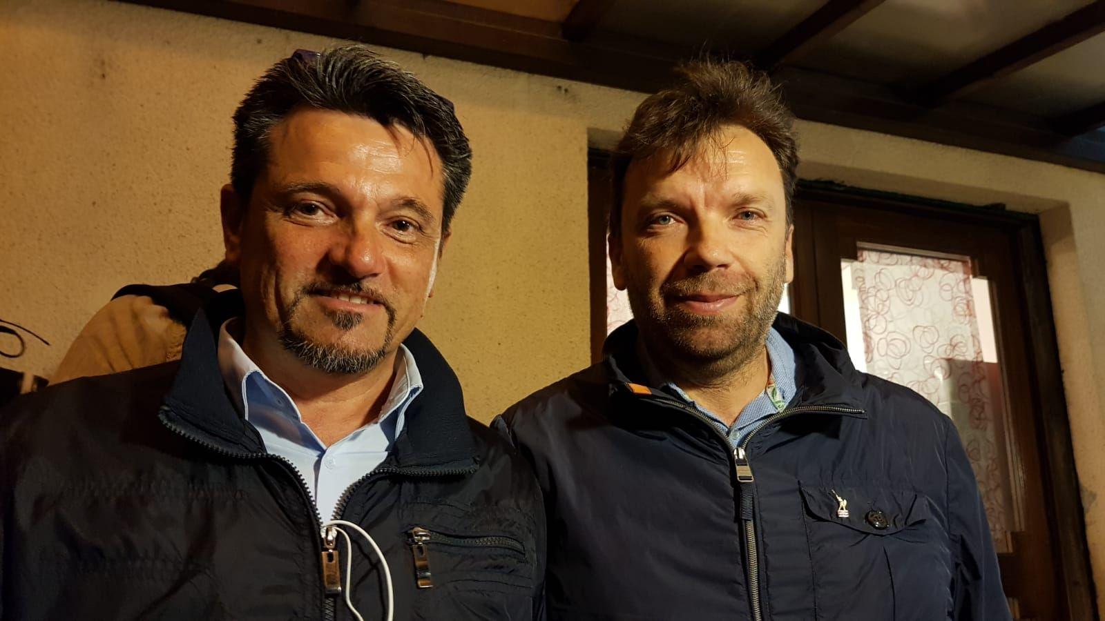 PAVONE - Fava e Leone alla fiaccolata per il tabaccaio Iachi Bonvin