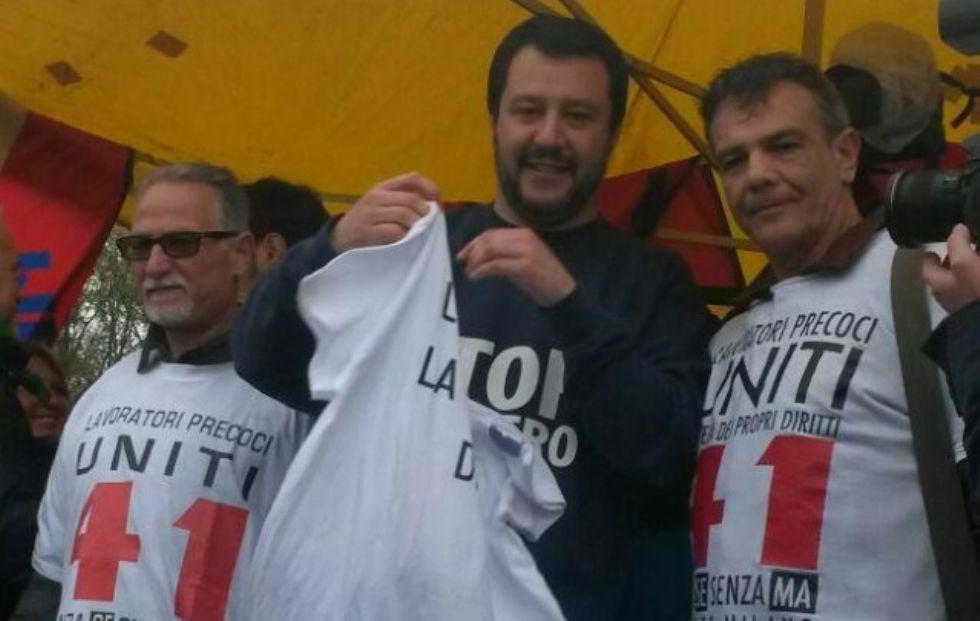 CANAVESE - Salvini sotto casa dell'ex ministro Fornero - FOTO