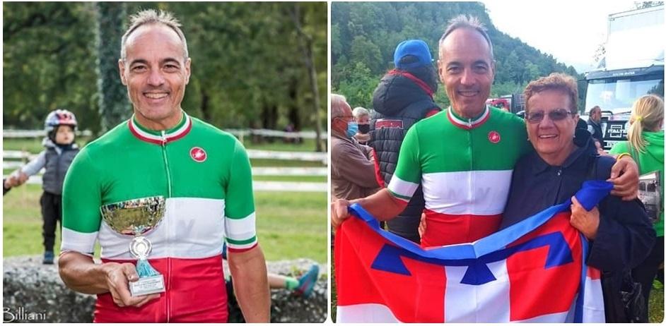 BOLLENGO - Ciclocross paralimpico: l'atleta Fabrizio Topatigh è campione italiano