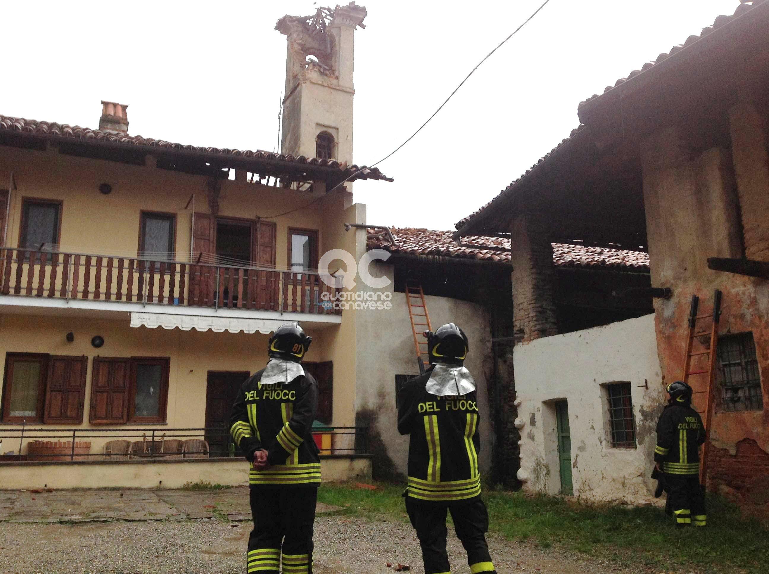 VALPERGA - Crolla il campanile e una famiglia resta senza casa: parte la causa civile contro la Curia di Torino