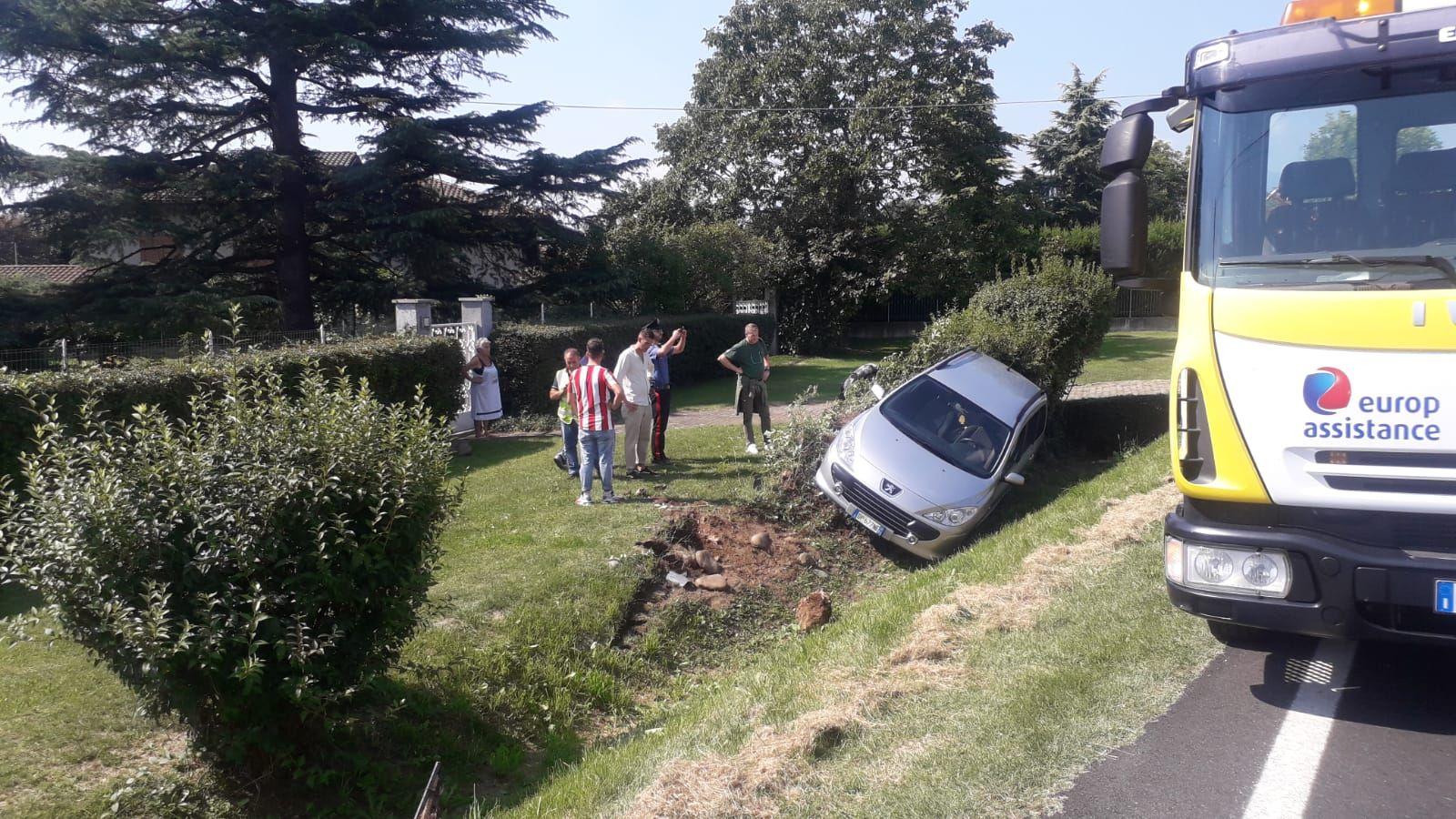 OZEGNA - Incidente stradale sulla provinciale per Castellamonte