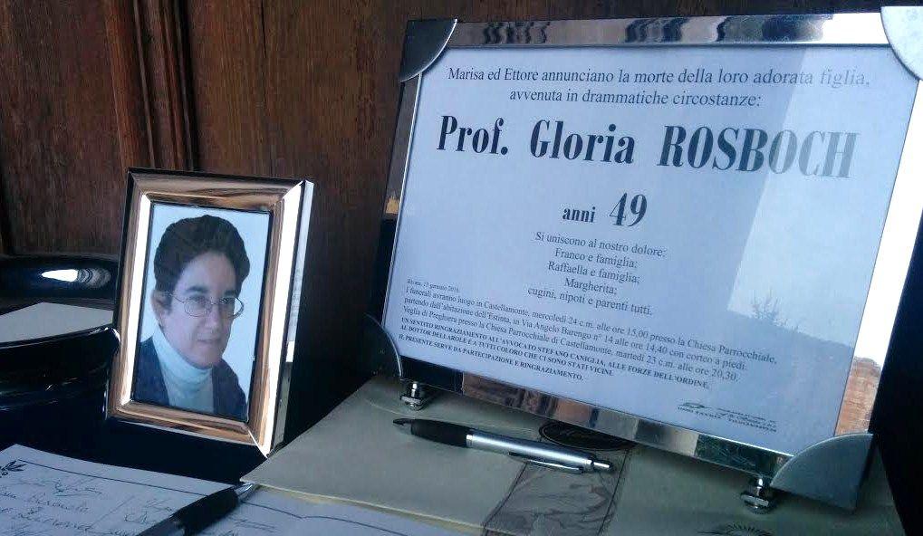 CASTELLAMONTE - Cinque anni senza Gloria Rosboch: il 13 gennaio 2016 il barbaro omicidio della professoressa