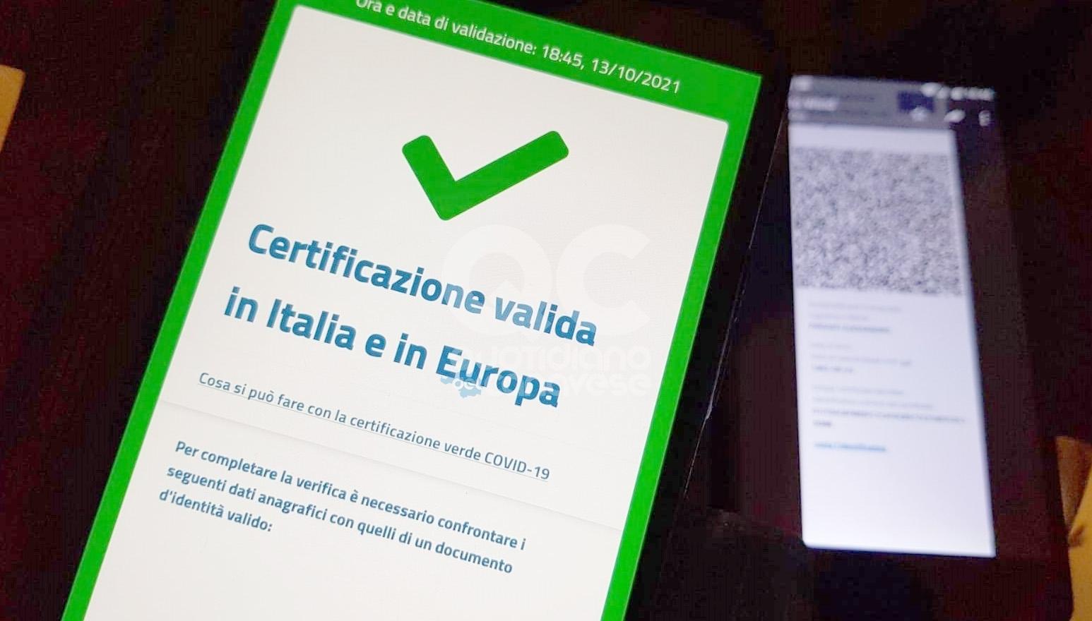 GREEN PASS - Scatta l'obbligo da venerdi: i lavoratori senza certificato verde rischiano una multa di 1500 euro