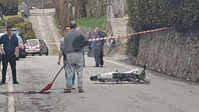 CUORGNE' - Motociclista sbatte contro un muro in pietra, trasportato d'urgenza al CTO di Torino