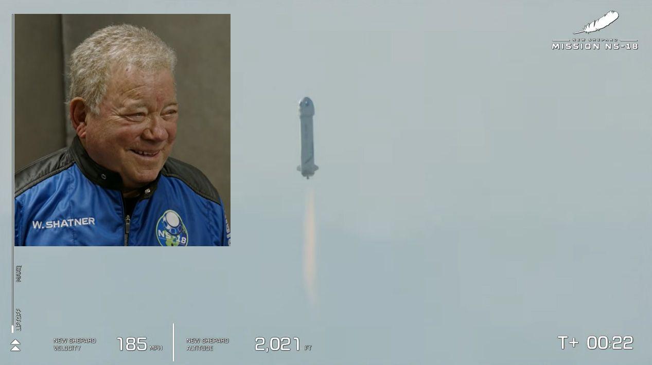 SPAZIO - Il capitano Kirk di Star Trek è andato davvero nello spazio - VIDEO