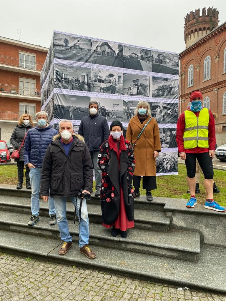 FAVRIA - Il «cubo» di Nizzia come testimonianza della «resistenza» al covid