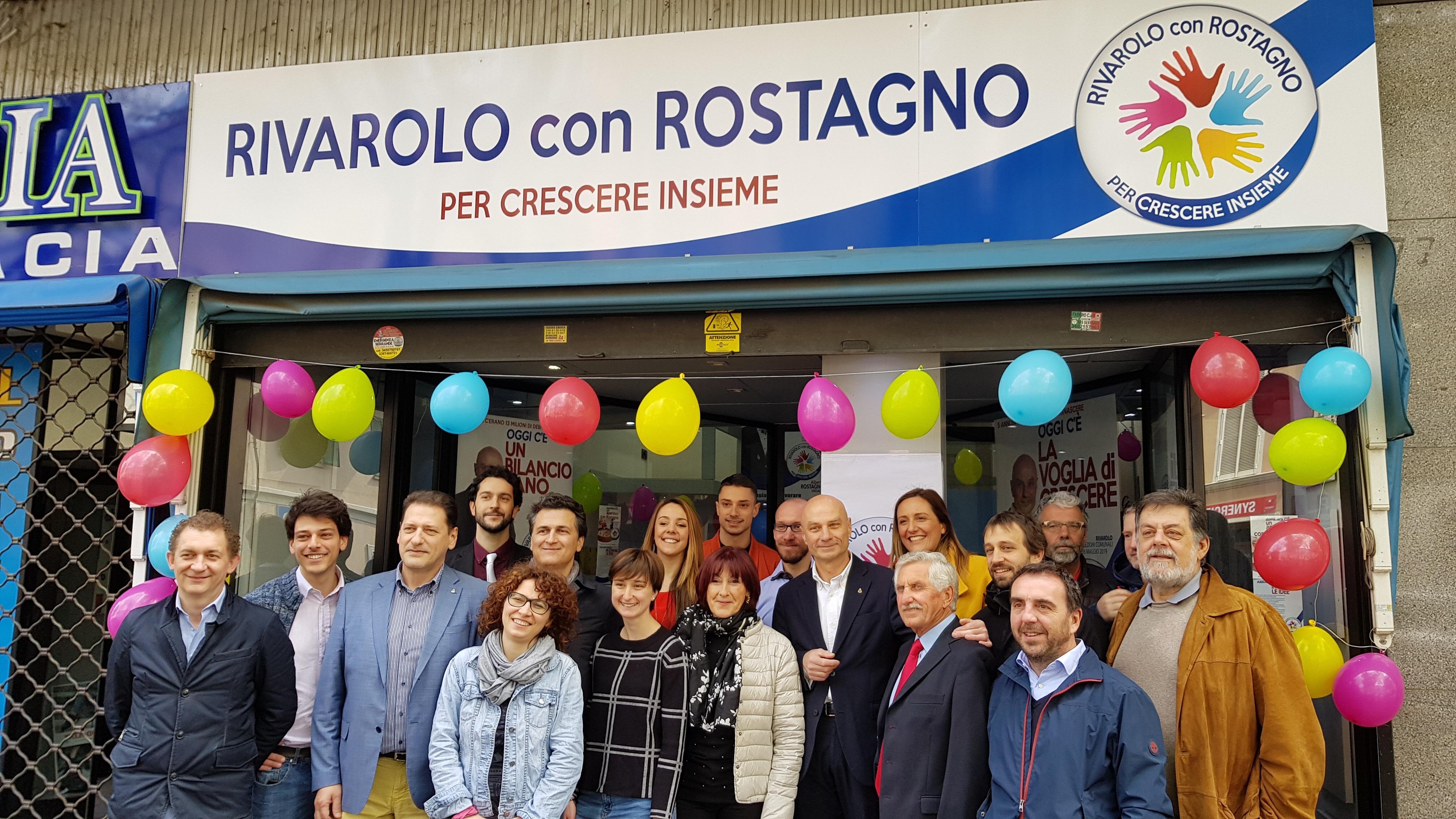 ELEZIONI RIVAROLO - Rostagno c'è e inaugura la sede - FOTO