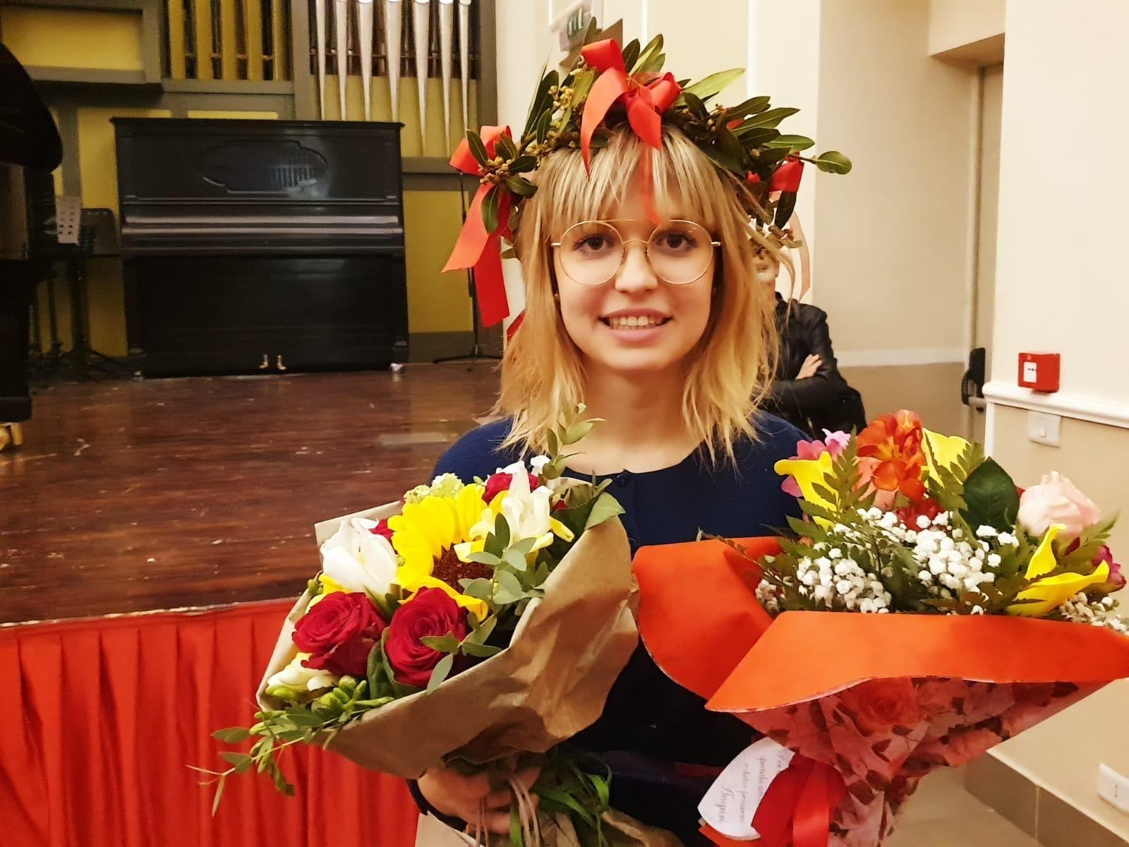 FORNO CANAVESE - Federica Bertot, talento al piano da 110 e lode