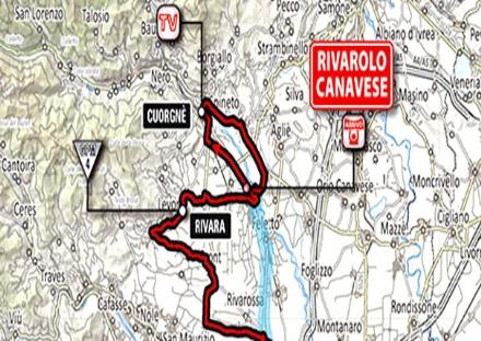 GIRO D'ITALIA IN CANAVESE -9 - Fossano-Rivarolo: il percorso