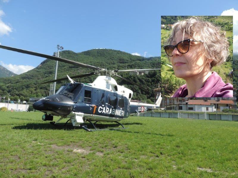 PONT CANAVESE - Anche l'elicottero dei carabinieri per le ricerche di Elisa Gualandi: appello a Chi l'ha Visto