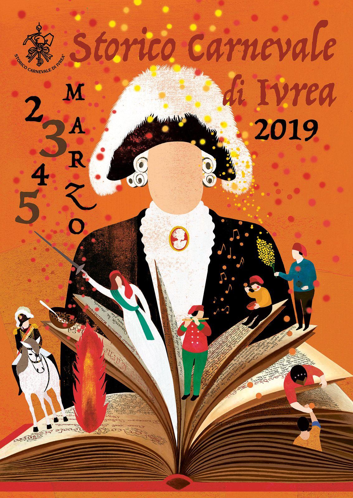 CARNEVALE DI IVREA - Il Libro dei Verbali al centro dell'immagine dell'edizione 2019