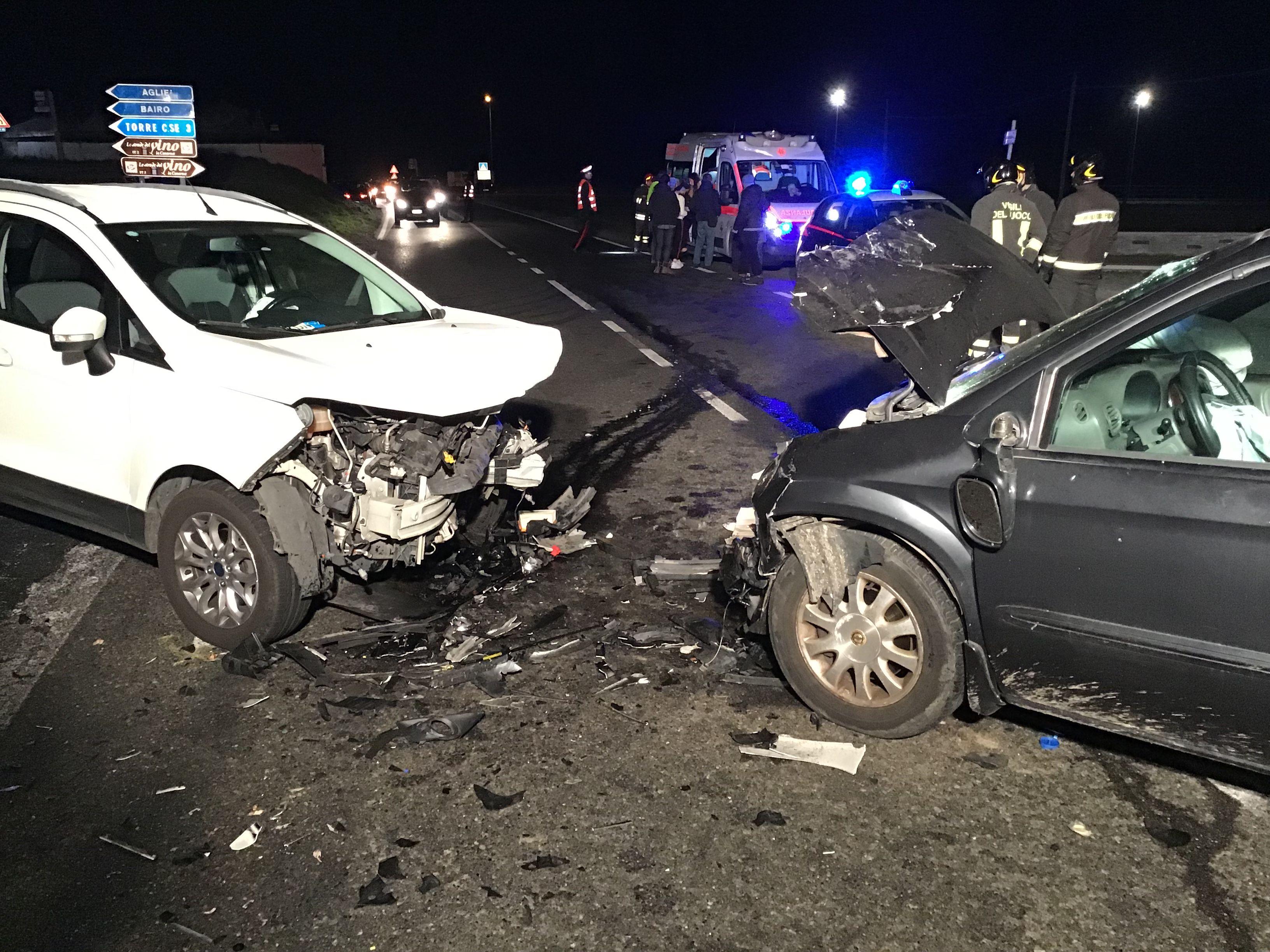 BALDISSERO-CASTELLAMONTE - Un altro incidente stradale sulla provinciale - FOTO E VIDEO