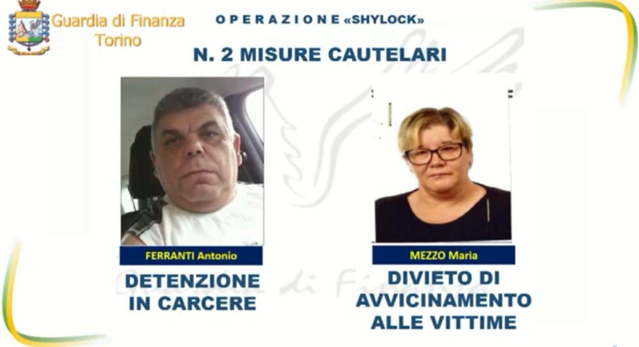 CALUSO - Prestavano soldi ai pensionati con tassi di usura del 300%: due italiani fermati dalla guardia di finanza - VIDEO