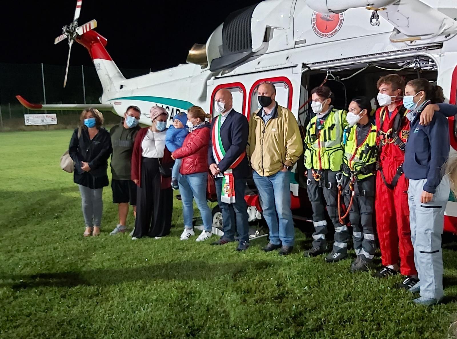 LEVONE - Inaugurata l'area di atterraggio per l'elisoccorso del 118 - FOTO e VIDEO