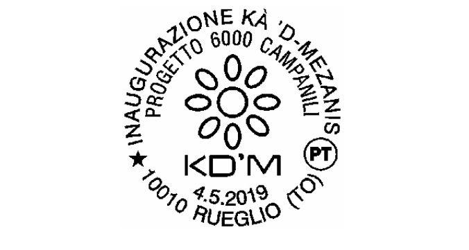 RUEGLIO - Un annullo speciale per l'inaugurazione della Kà 'd-Mezanis