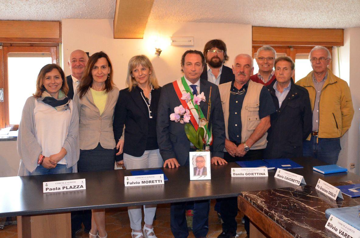 ALPETTE - E' iniziato il terzo mandato del sindaco Silvio Varetto