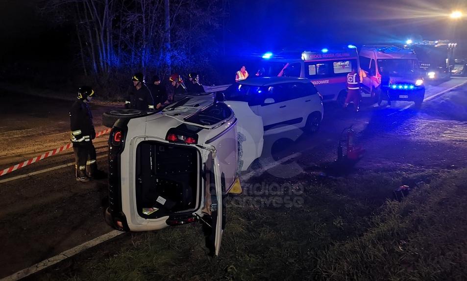 FAVRIA - Incidente stradale in borgata Chiarabaglia: madre e figlia ferite - FOTO