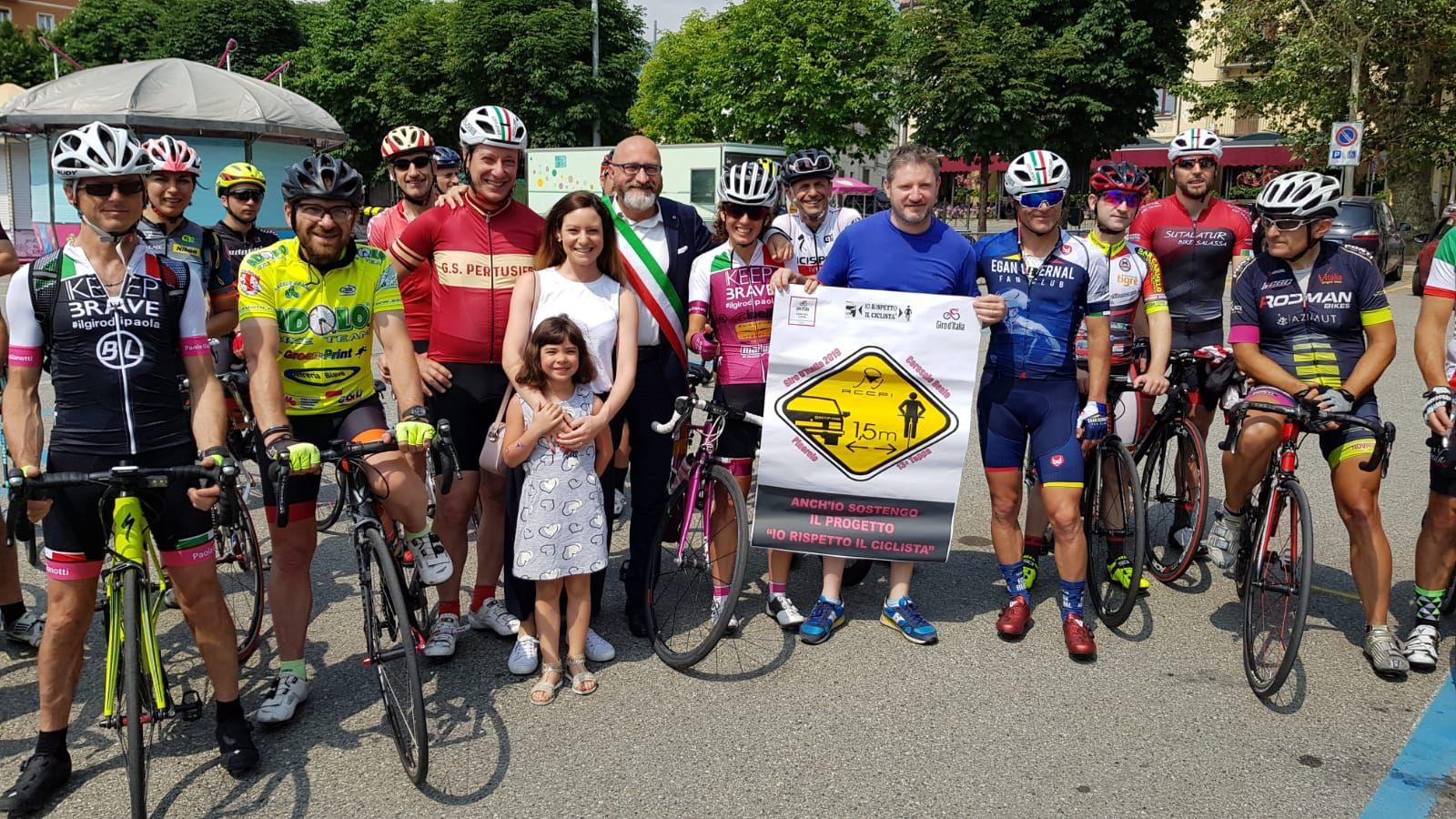 CANAVESE - Sulle strade del Giro rispettando i ciclisti: il progetto sicurezza di Paola Gianotti - FOTO e VIDEO