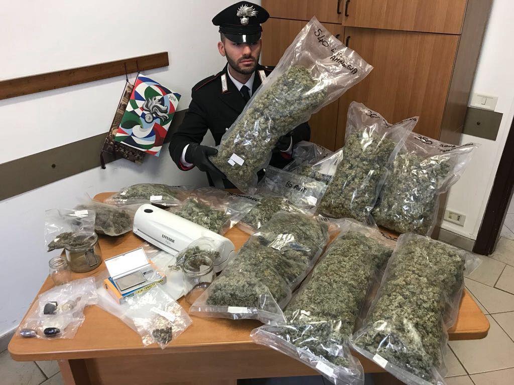 LEINI - Chili di marijuana nell'auto degli spacciatori: tre italiani arrestati dai carabinieri - FOTO