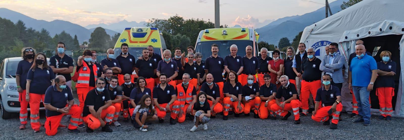 VALPERGA - Inaugurate le due nuove ambulanze della Croce Bianca del Canavese