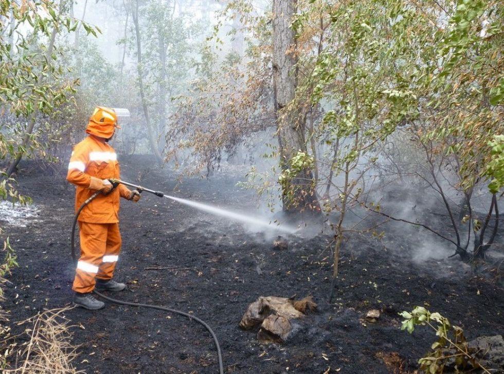VALPERGA - Boschi a fuoco vicino alle case di Riborgo - VIDEO