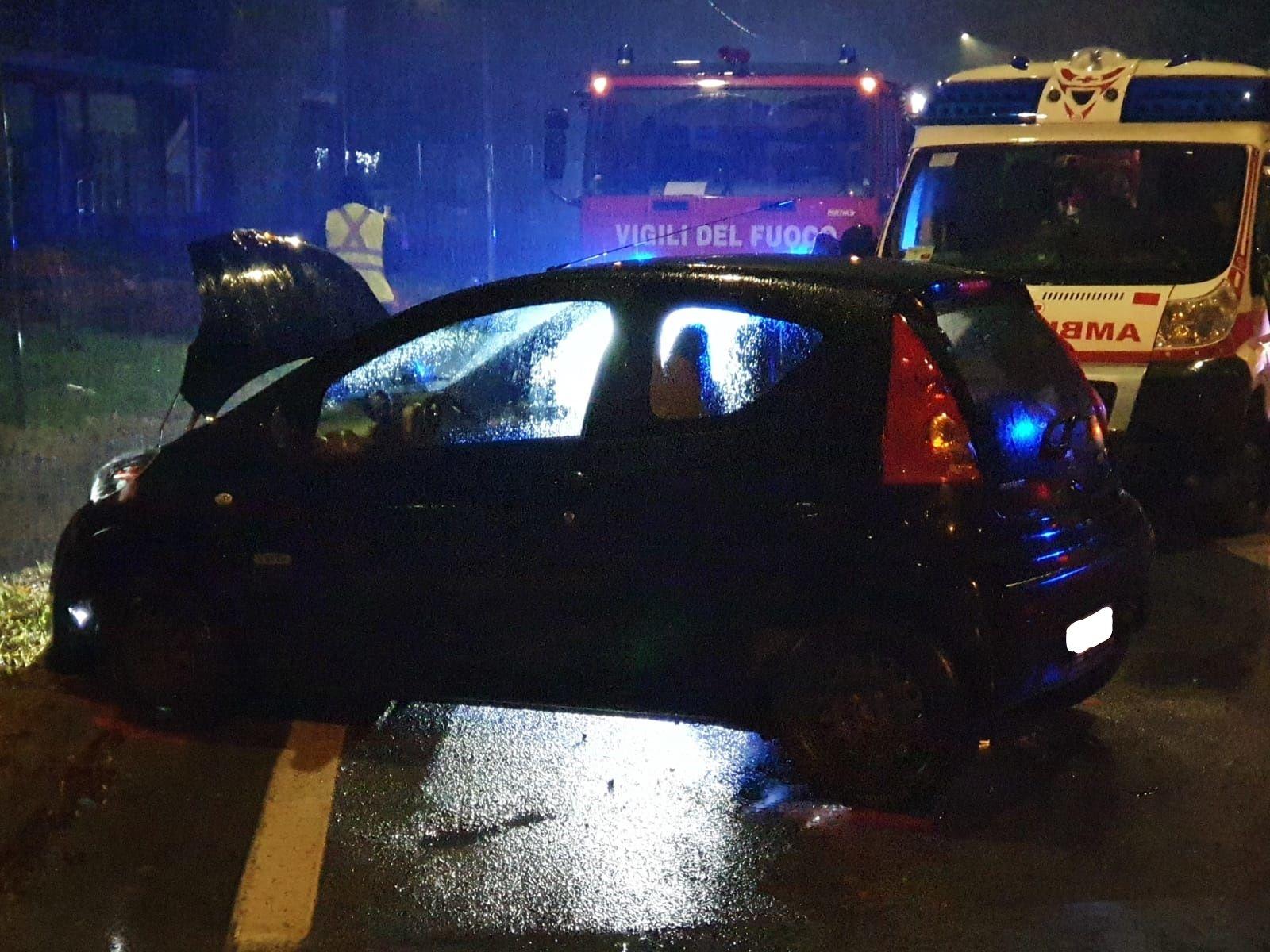 RIVAROLO - Incidente stradale nella notte: ferito un favriese - FOTO
