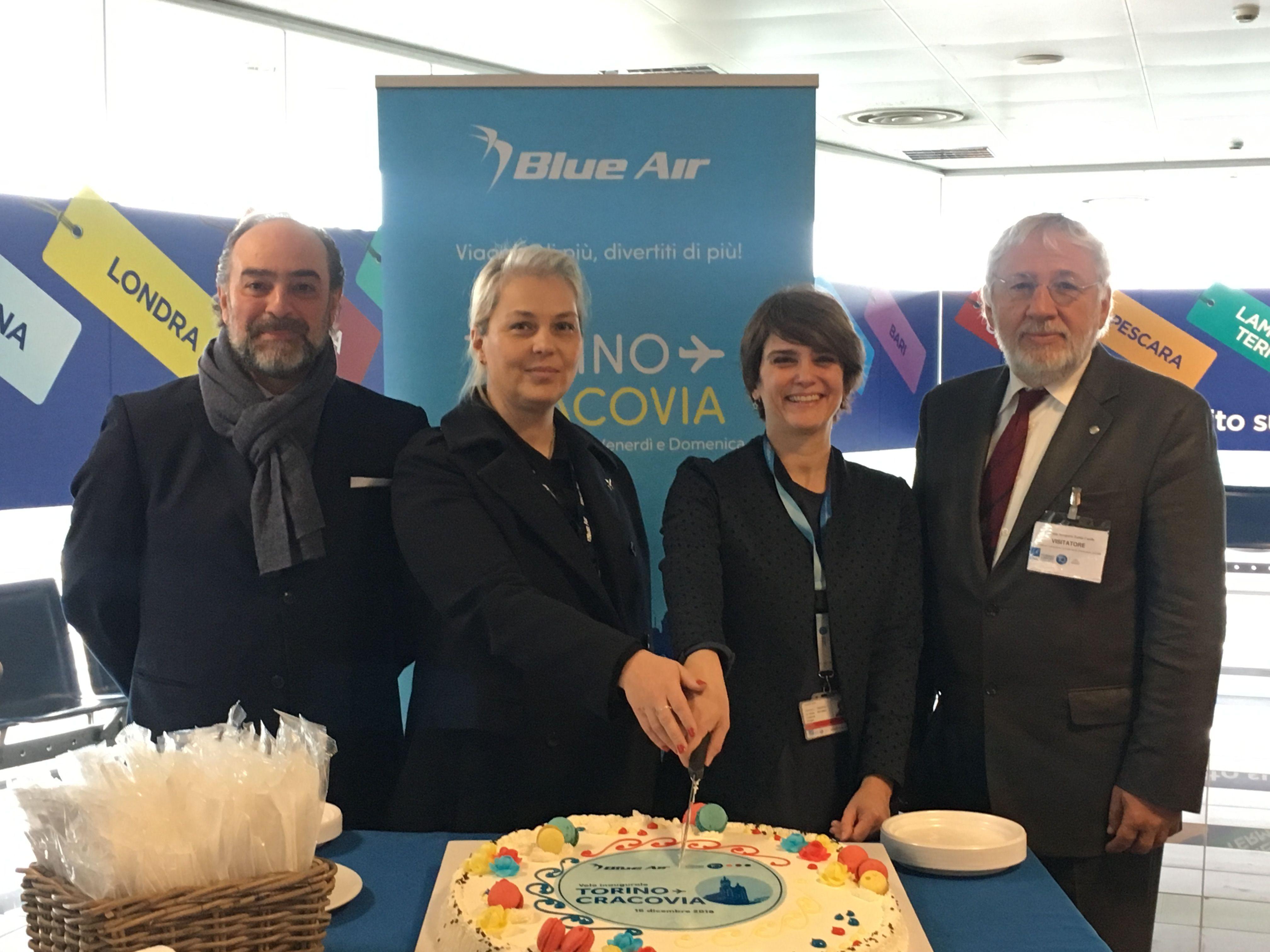 CASELLE - Blue Air ha inaugurato il nuovo volo per Cracovia