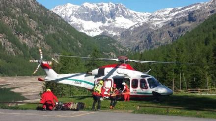 CERESOLE - Due alpinisti salvati dal soccorso alpino - FOTO