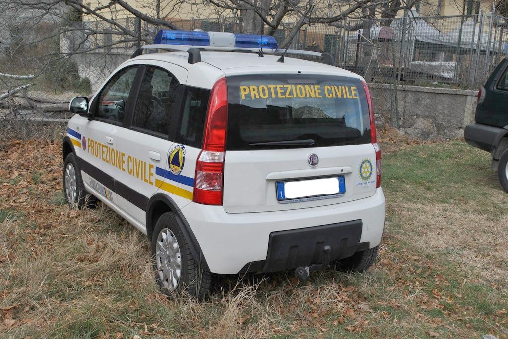 COLLERETTO C. - Ladri rubano la Panda della protezione civile