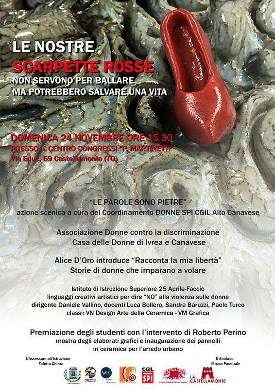 CASTELLAMONTE - Le Nostre Scarpette Rosse 2019: sensibilizzazione contro la Violenza sulle Donne