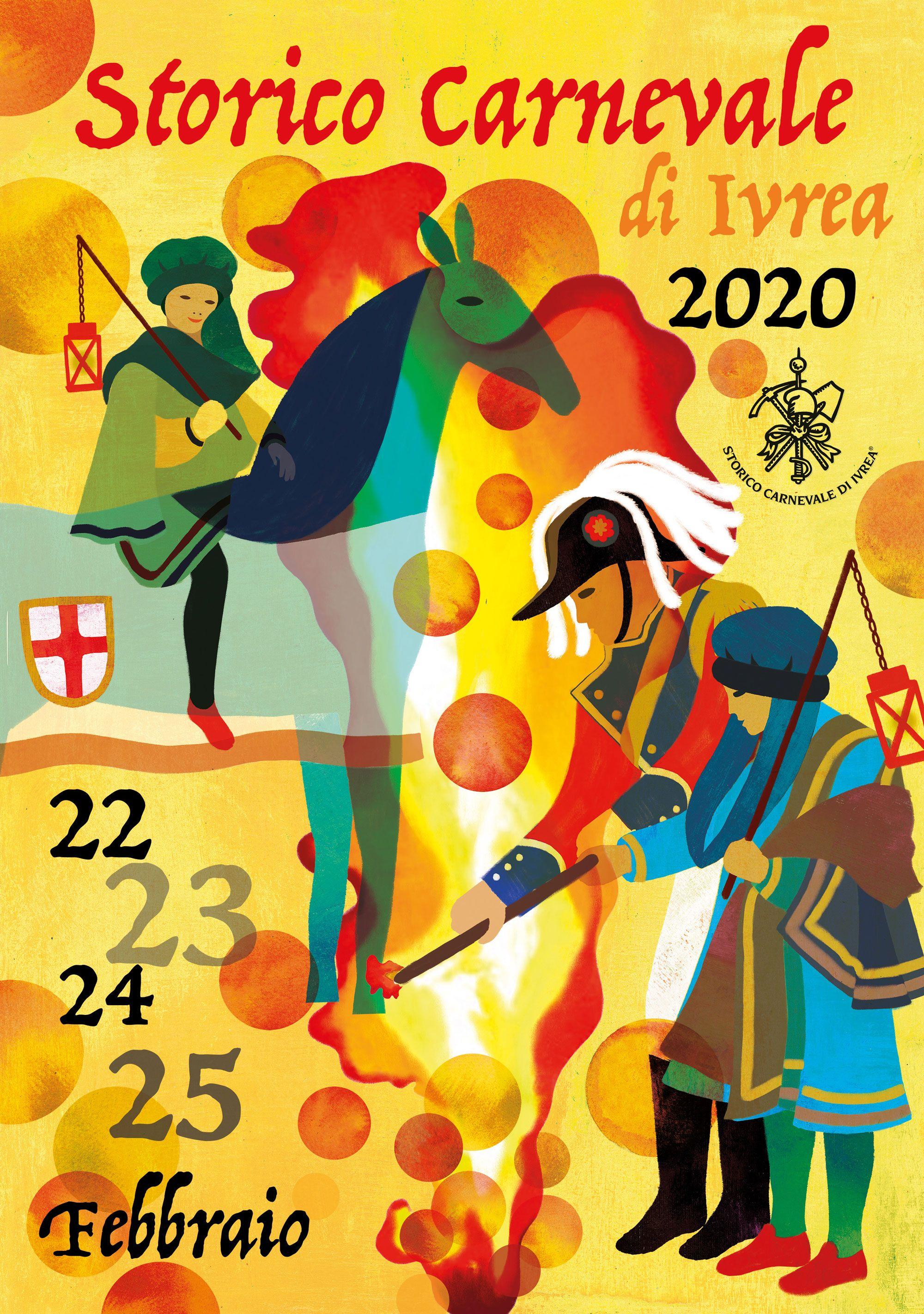 STORICO CARNEVALE IVREA - Ecco l'immagine ufficiale dell'edizione 2020