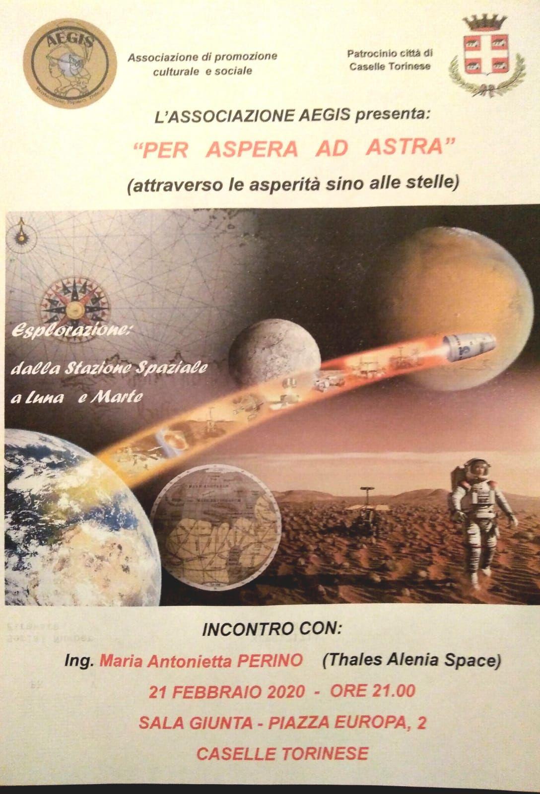 CASELLE - «Per Aspera ad Astra» con Maria Antonietta Perino di Thales Alenia Space