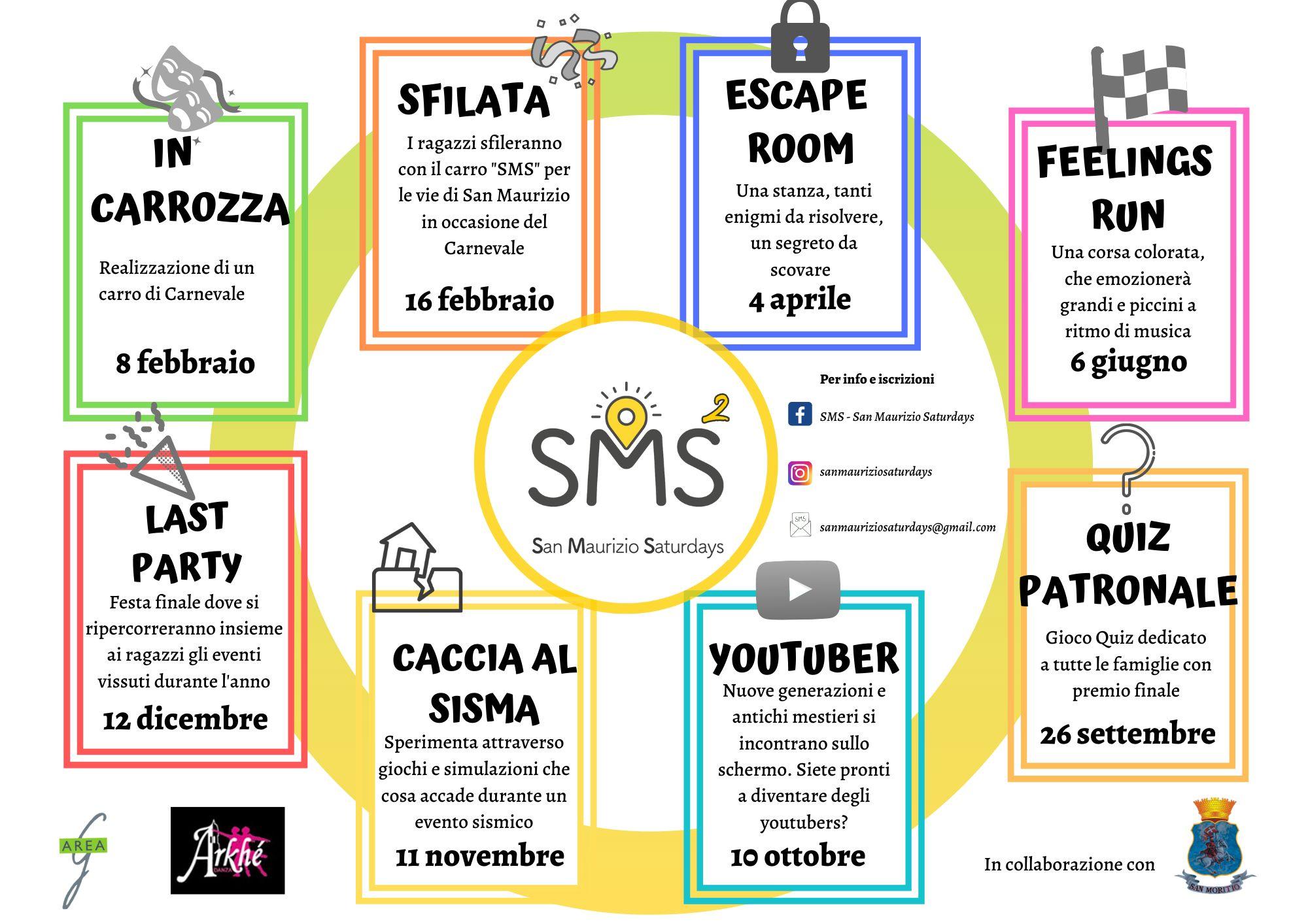 SAN MAURIZIO - Pronta l'edizione 2020 di «San Maurizio Saturdays»