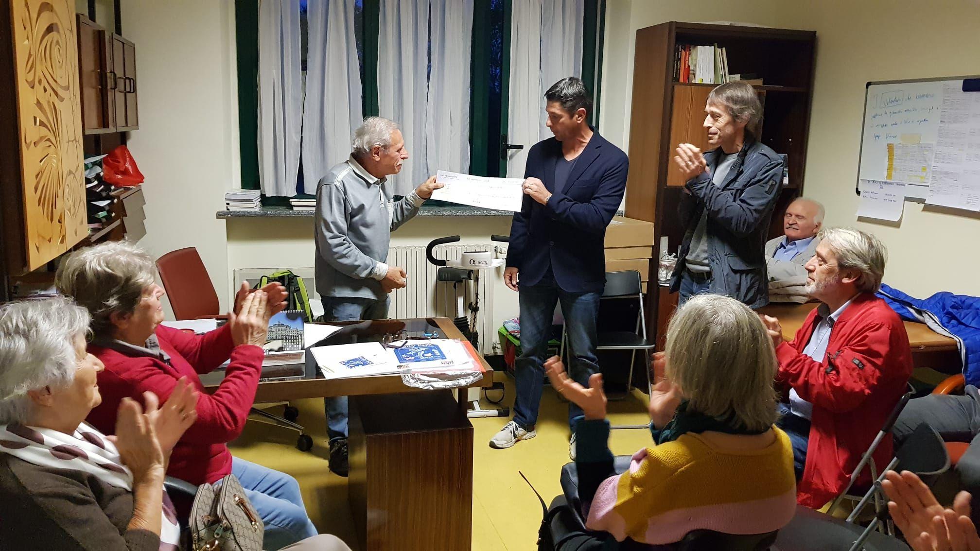 CASTELLAMONTE - Più di 3000 euro donati ai Parkinsoniani - FOTO