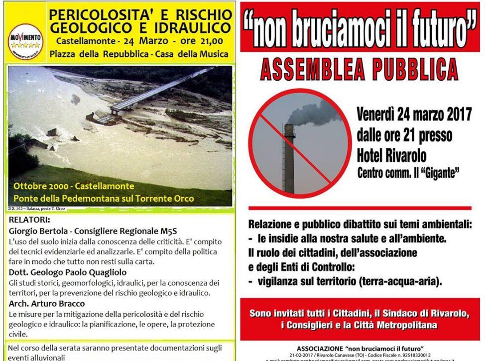 AMBIENTE - Due incontri a Rivarolo e Castellamonte