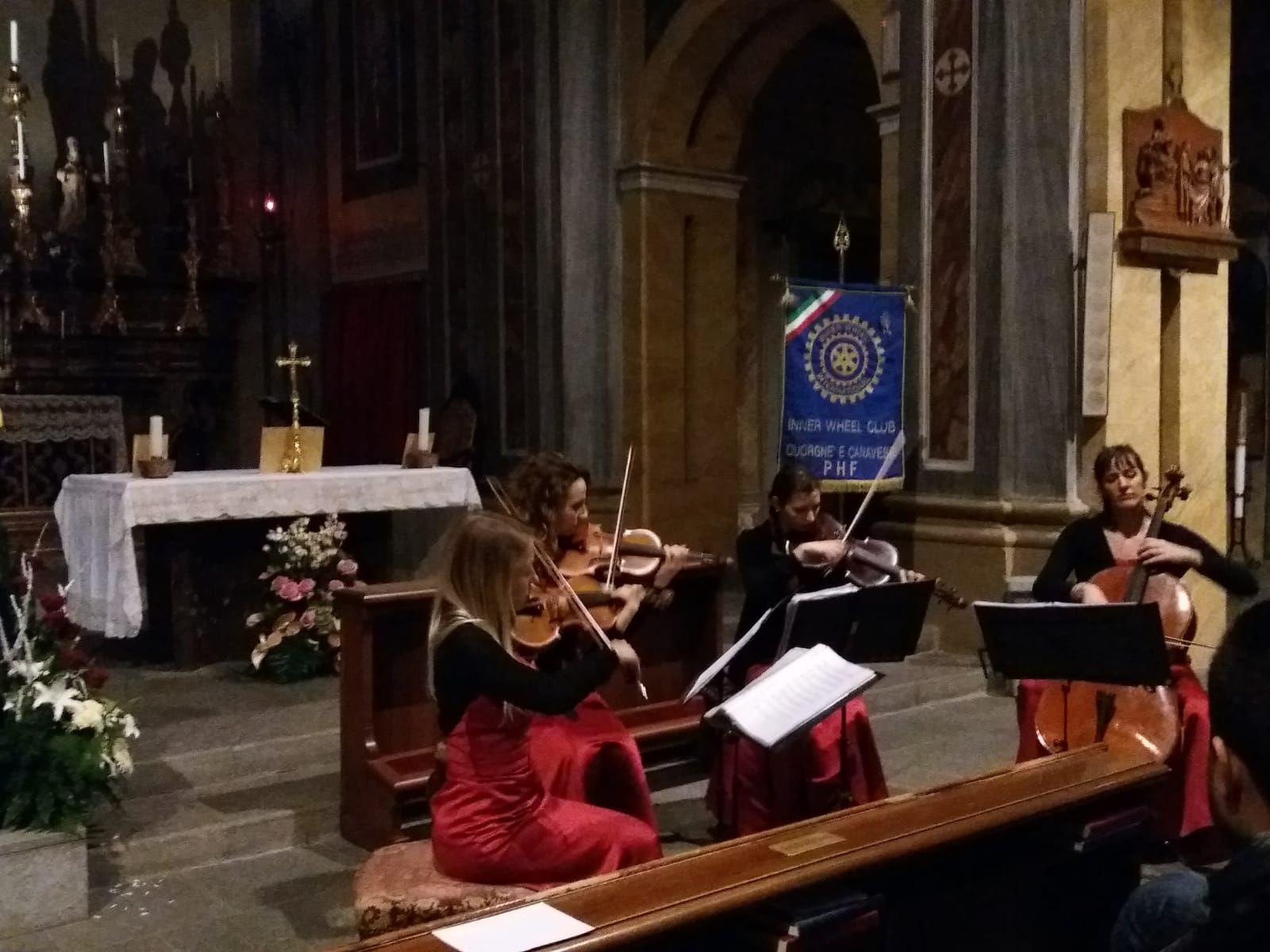RIVAROLO - Successo per il Concerto di Natale dell'Inner Wheel Cuorgnè e Canavese