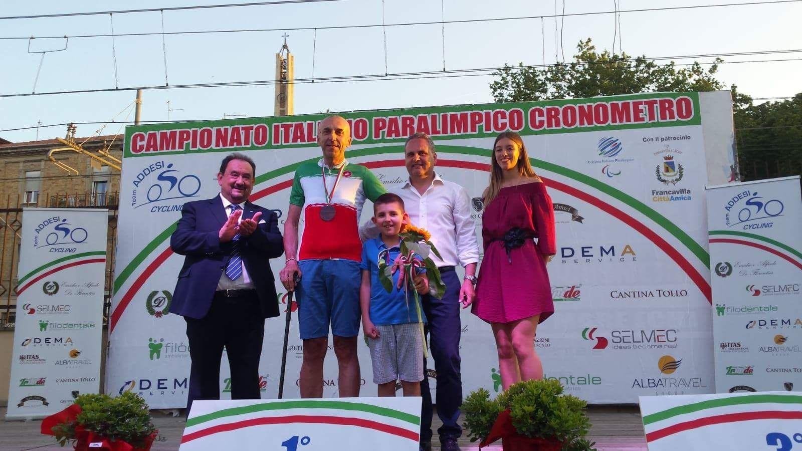 RIVAROLO - Ancora un successo per Livio Raggino: oro nel campionato paralimpico cronometro