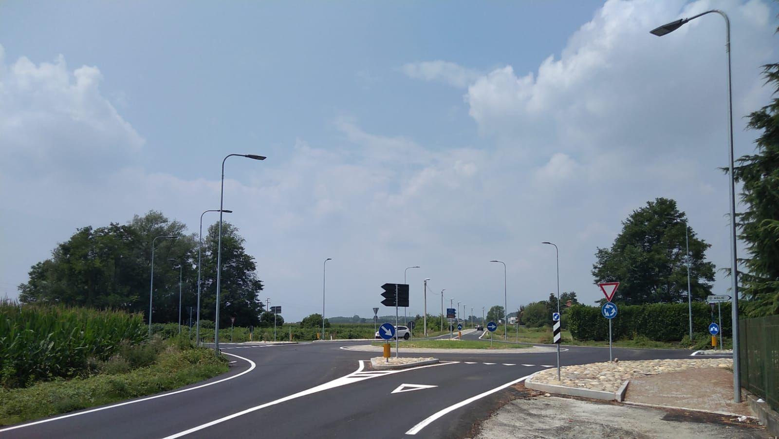 AGLIE' - Nuova rotonda sulla provinciale 41: conclusi i lavori