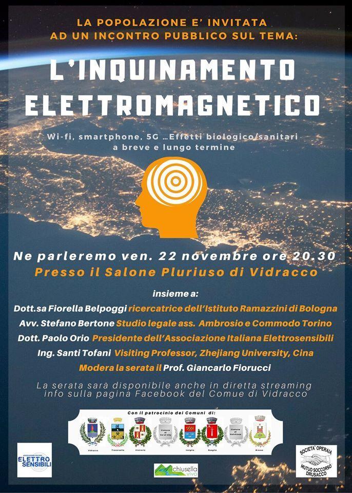 VIDRACCO - 5G e campi elettromagnetici: dibattito in diretta questa sera alle 20.30