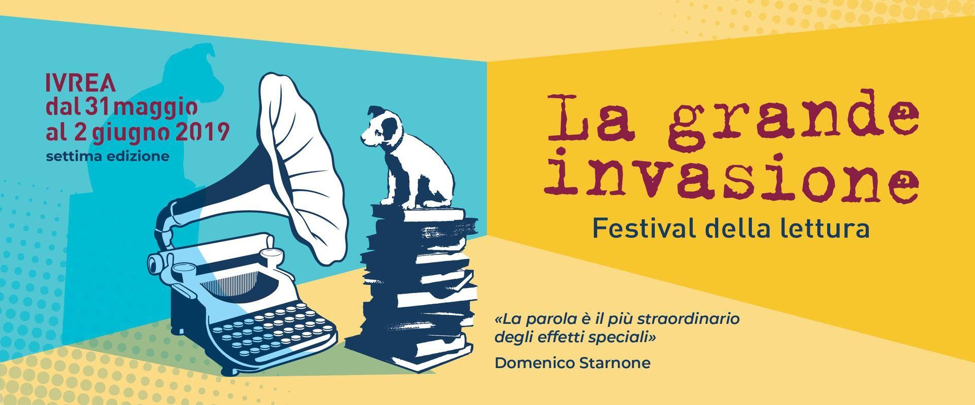 IVREA - Torna «La grande invasione», il festival della lettura dal 31 maggio al 2 giugno