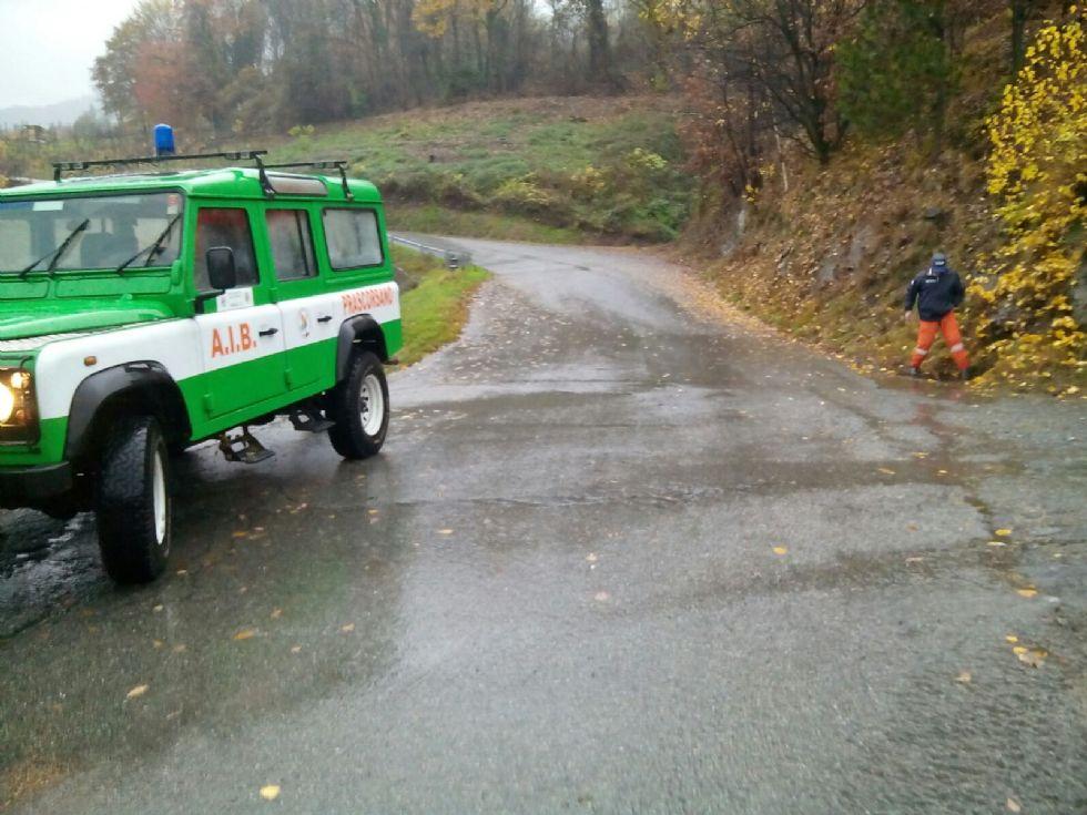 ALLERTA MALTEMPO - A Prascorsano protezione civile al lavoro - FOTO